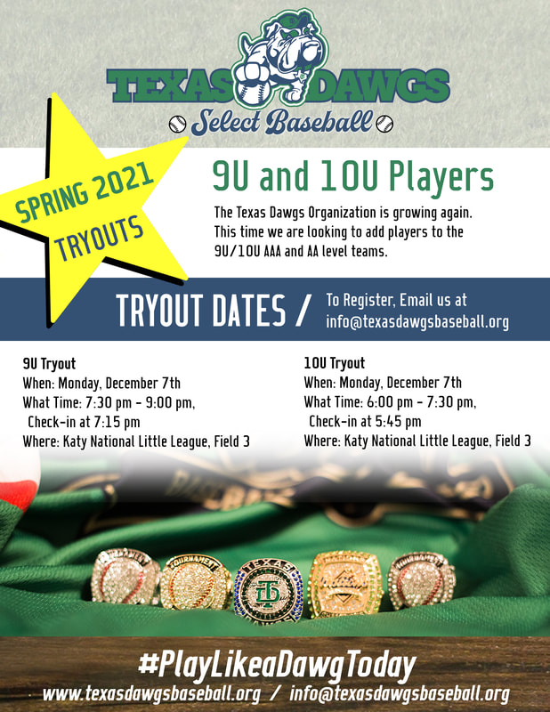 9U and 10U Dawgs December Tryouts